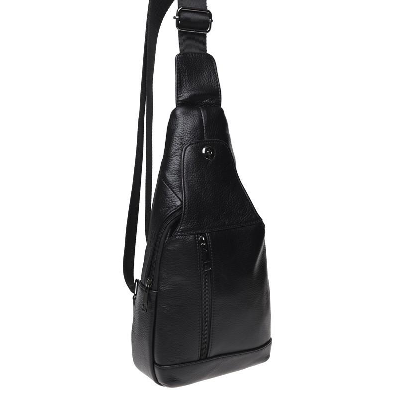 Чоловічий шкіряний рюкзак Keizer K1683-black