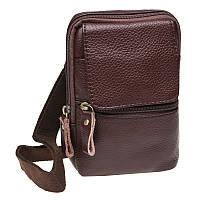 Мужская кожаная сумка через плечо Keizer K11024-brown