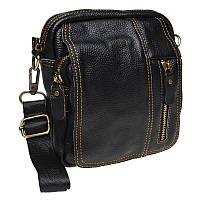 Мужская кожаная сумка через плечо Keizer K1660-black