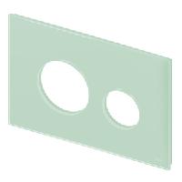 Стеклянная лицевая панель TECE TECEloop modular 9.240.672 светло-зеленый Emco, фото 1
