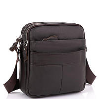 Шкіряний месенджер чоловічий коричневий Tiding Bag A25F-8017B, фото 1