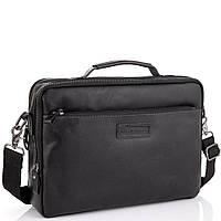 Мужская кожаная черная сумка для ноутбука Allan Marco RR-4104A, фото 1