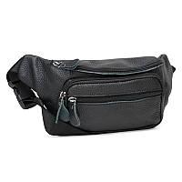 Мужская кожаная сумка Borsa Leather K101-black