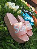 Женские пляжные шлепки Super, на платформе,танкетка 5 см черные голубые желтые розовые оранжевые, фото 7
