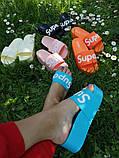Женские пляжные шлепки Super, на платформе,танкетка 5 см черные голубые желтые розовые оранжевые, фото 5