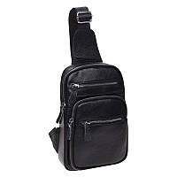 Мужской кожаный рюкзак через плечо Keizer k18791-black