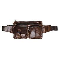 Мужская кожаная поясная сумка Keizer k1886-brown