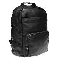 Мужской кожаный  рюкзак Keizer K1551-black