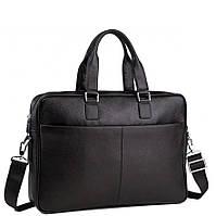Сумка-портфель мужская кожаная для ноутбука и документов Tiding Bag M8018A