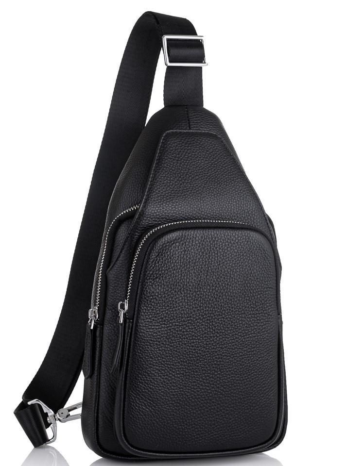Мужская сумка-слинг через плечо натуральная кожа Tiding Bag SM8-681A