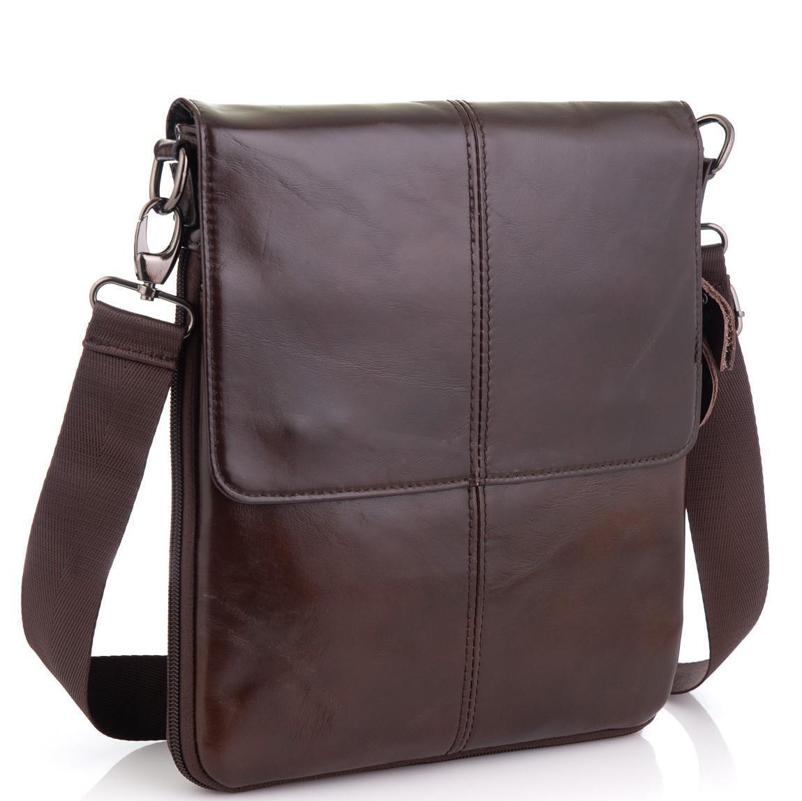 Мужская кожаная сумка через плечо мессенджер Bexhill BX8005C