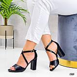 Женские босоножки на толстом высоком каблуке, фото 3