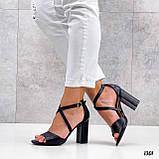 Женские босоножки на толстом высоком каблуке, фото 2