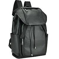 Рюкзак мужской кожаный черный Tiding Bag B3-174A