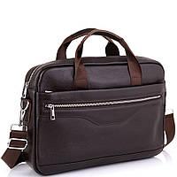 Шкіряна сумка для ноутбука коричнева Tiding Bag A25-1128C
