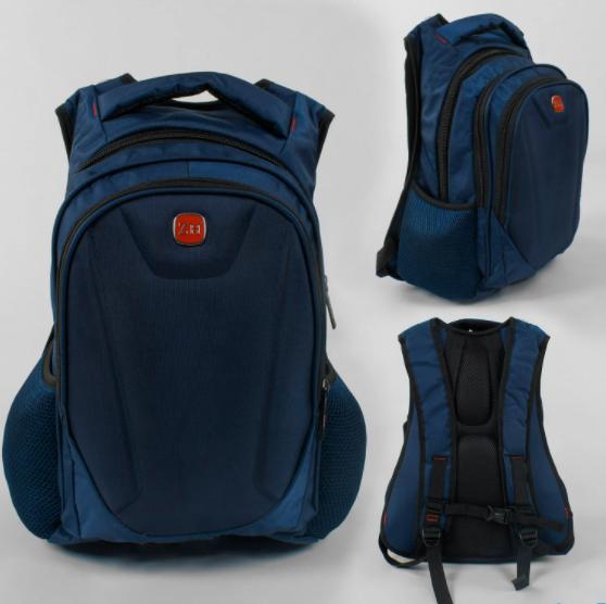 Подростковый Взрослый Рюкзак Портфель городской C 43534 с USB кабелем / синий