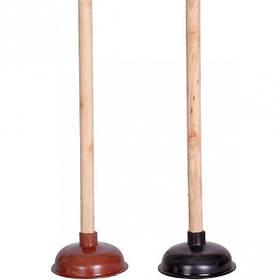 Вантуз с деревянной ручкой 50см D14см X2-138