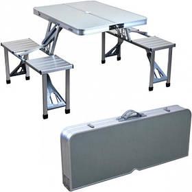 Столик для пикника алюминиевый Х1-240, в разложенном виде 85*72,5*67см