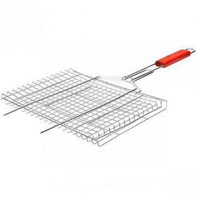 Решітка для мангалу велика 45*25*2см, ручка 33см X1-221