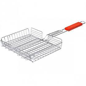 Решетка для мангала глубокая 40*29*5см, ручка 34см X1-226