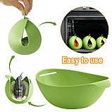Миска-форма для випічки силіконова 7708, зелена, фото 2