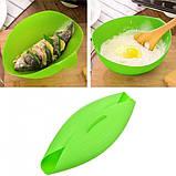 Миска-форма для випічки силіконова 7708, зелена, фото 4