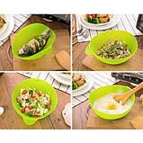 Миска-форма для випічки силіконова 7708, зелена, фото 5