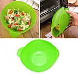 Миска-форма для випічки силіконова 7708, зелена, фото 6