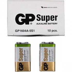 Батарейка GP 1604A-5UE1 лужна 6LF22,6LR61 Alkaline Super (крона) GP-002311