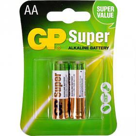 Батарейка GP 15A-U2 лужна LR6, AA по 2 шт. Alkaline Super GP-000027