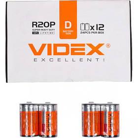 Батарейка Videx R2OP/D 2pcs SHRINK V-290409