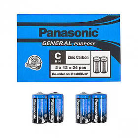 Батарейка Panasonic R14BER/2p General Purpose P-028581