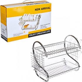 Сушилка для посуды металлическая, 40*25*36 см HP21-018