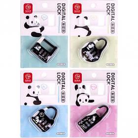 Замок кодовый панда на блистере DJ03-1134