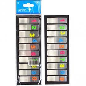 "Закладка неон Цифри 5 кольорів ""stick Notes"" Р18-10-К"