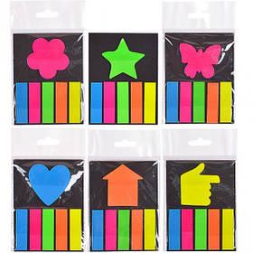 """Закладка неон 5 кольорів """"stick Notes"""" Р19-1"""