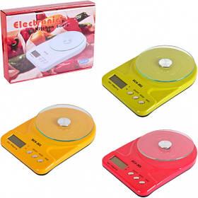 Весы кухонные электронные 7кг, платформа стекло D15см, 24,5*16,5см Х2-130