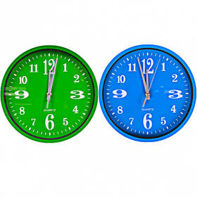 """Настінні годинники Х2-28 """"Коло кольоровий циферблат"""" 24,5*4см 562J3"""