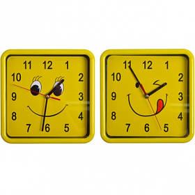 """Настінні годинники 8882/Х2-37 """"Смайл квадрат"""" 21,5*21,5*4см"""