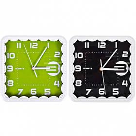 """Настінні годинники Х2-27/8882 """"Квадрат мереживо"""" без малюнка 22*22*4см"""