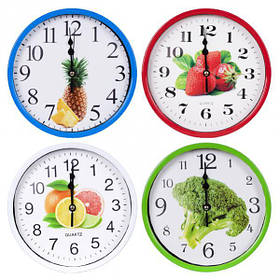 """Настінні годинники Х2-26 """"Коло кольоровий Фрукти"""" 18,5*4см"""