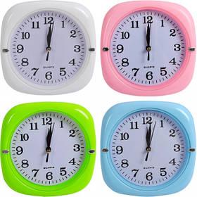 """Настінні годинники Х2-29 """"кольоровий Квадрат"""" 17*17*3,5 см"""