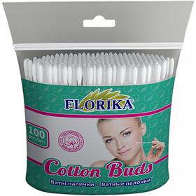 "Ватні палички ""Florika"" 100 штук 75мм п\э12*11*2см 350240"