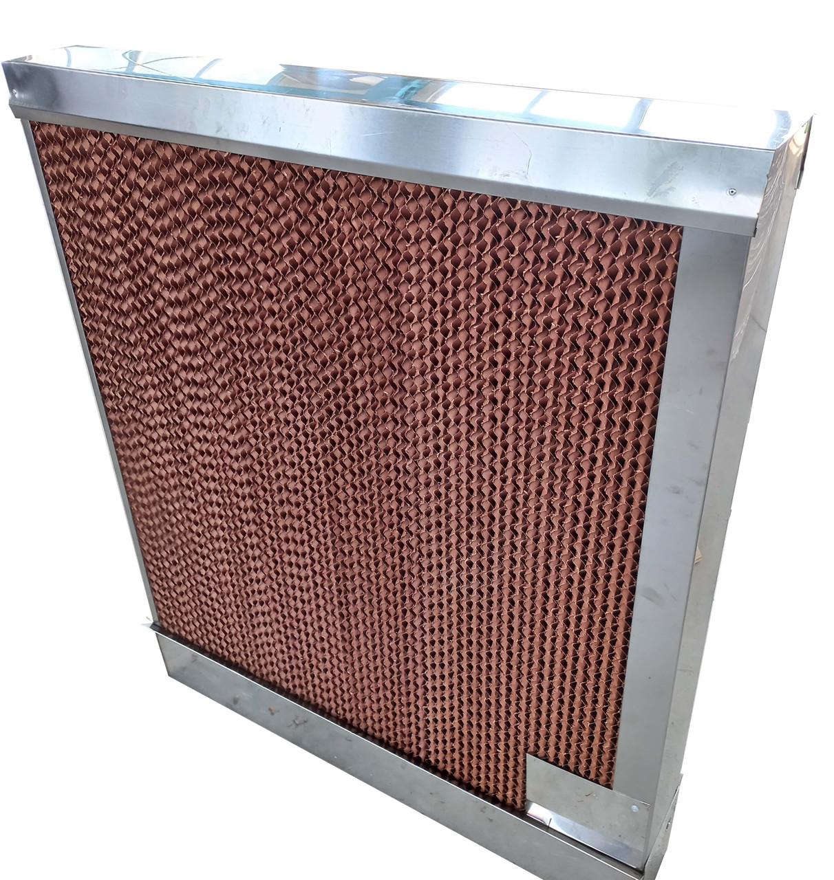Бумажная охлаждающая панель(испарительный водяной охладитель) для крольчатника, птичника, теплиц 183х15х95 см.