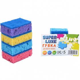 """Губка для миття посуду XL """"Пено Ефект"""" Super Lux 5 штук, 9*6*3 см 10014"""