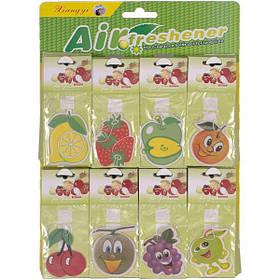 Освіжувач повітря паперовий, фрукти 19*8 см Х2-99