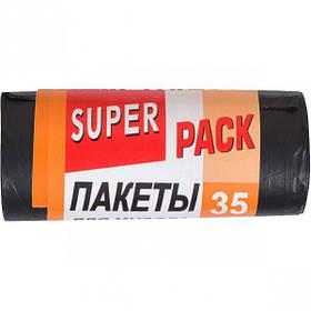 Пакет для сміття 50х60 35л 15 штук Super Luxs/PACK 20030
