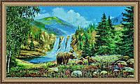 Гобеленова Картина Ведмежата 400х800 мм. (в багетній рамці) №G338