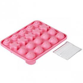 Форма силиконовая для конфет, льда двойная 19*16см СК4-1555