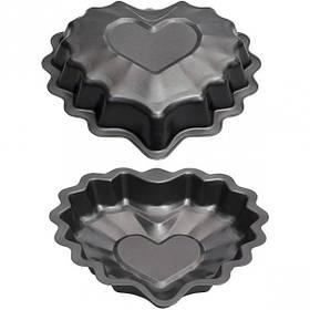 Форма металлическая сердце фигурное 25*24,5*5см FM-12/16073-10